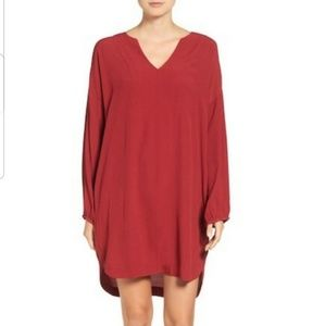 Madewell Du Jour Red Tunic Dress